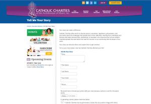 CatholicCharitiesShareStoryPage
