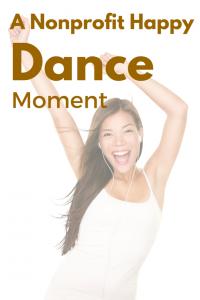 Doing the nonprofit happy dance... (1)